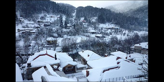 Η Βωβούσα χιονισμένη