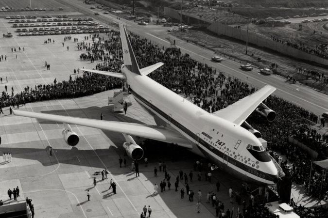 Boeing 747-121 RA001 σε κοινή θέα στην Ουάσινγκτον το 1968 (αρχείο Boeing)