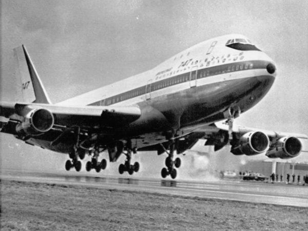 Το πρώτο 747 σε μια από τις πρώτες του πτήσεις το 1969