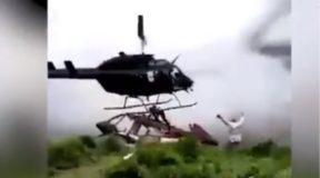 Βίντεο-σοκ: Επέζησε από πτώση ελικοπτέρου και βρήκε φρικτό θάνατο από το ελικόπτερο διάσωσης