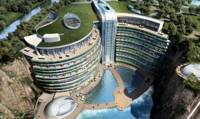 Το πρώτο ξενοδοχείο του κόσμου μέσα σε λατομείο που προσφέρει θέα στον «κάτω κόσμο»