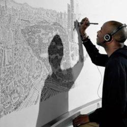 Καλλιτέχνης με αυτισμό ζωγραφίζει μια ολόκληρη πόλη από μνήμης!!!