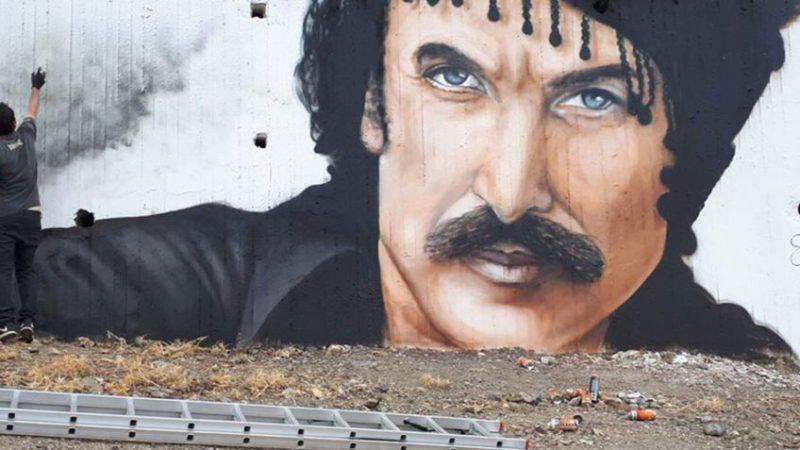 Εκπληκτικό γκράφιτι στη Κρήτη απεικονίζει τον Νίκο Ξυλούρη