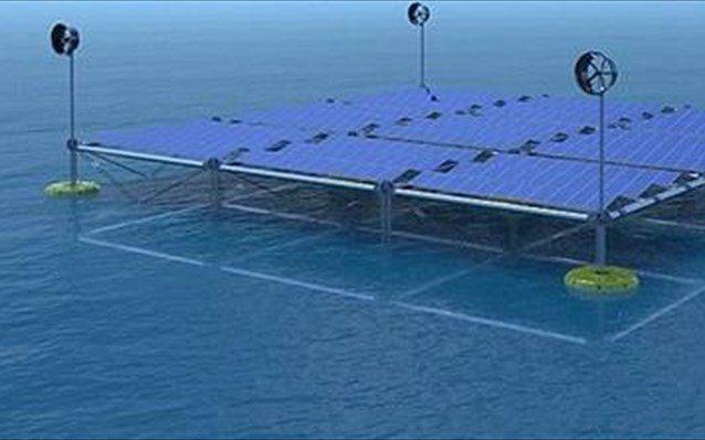 Πλωτή πλατφόρμα συλλογής ενέργειας από τον αέρα, τον ήλιο και τα κύματα στο Ηράκλειο Κρήτης